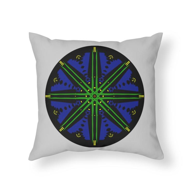 Starship Blue Green  Home Throw Pillow by dotdotdottshirts's and textiles Artist Shop
