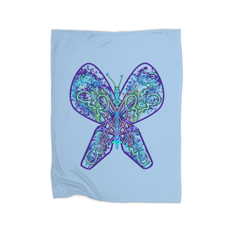 Electric Butterfly Home Blanket by dotdotdottshirts's Artist Shop
