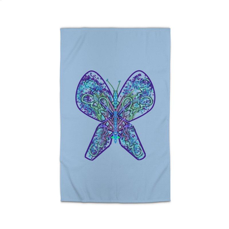 Electric Butterfly Home Rug by dotdotdottshirts's Artist Shop
