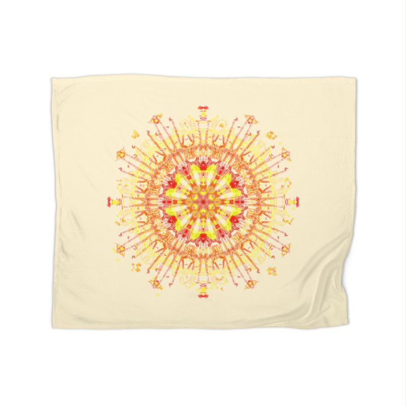 Red and Yellow Lace Series Two Home Blanket by dotdotdottshirts's and textiles Artist Shop