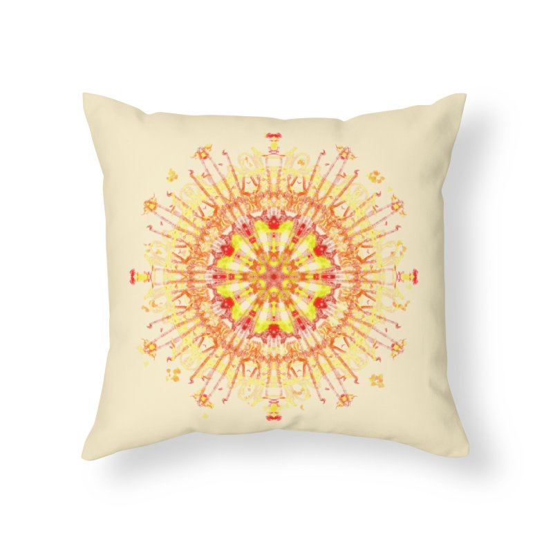 Red and Yellow Lace Series Two Home Throw Pillow by dotdotdottshirts's and textiles Artist Shop