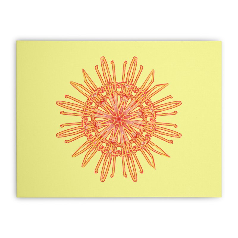 Red and Yellow Lace Companion Home Stretched Canvas by dotdotdottshirts's and textiles Artist Shop