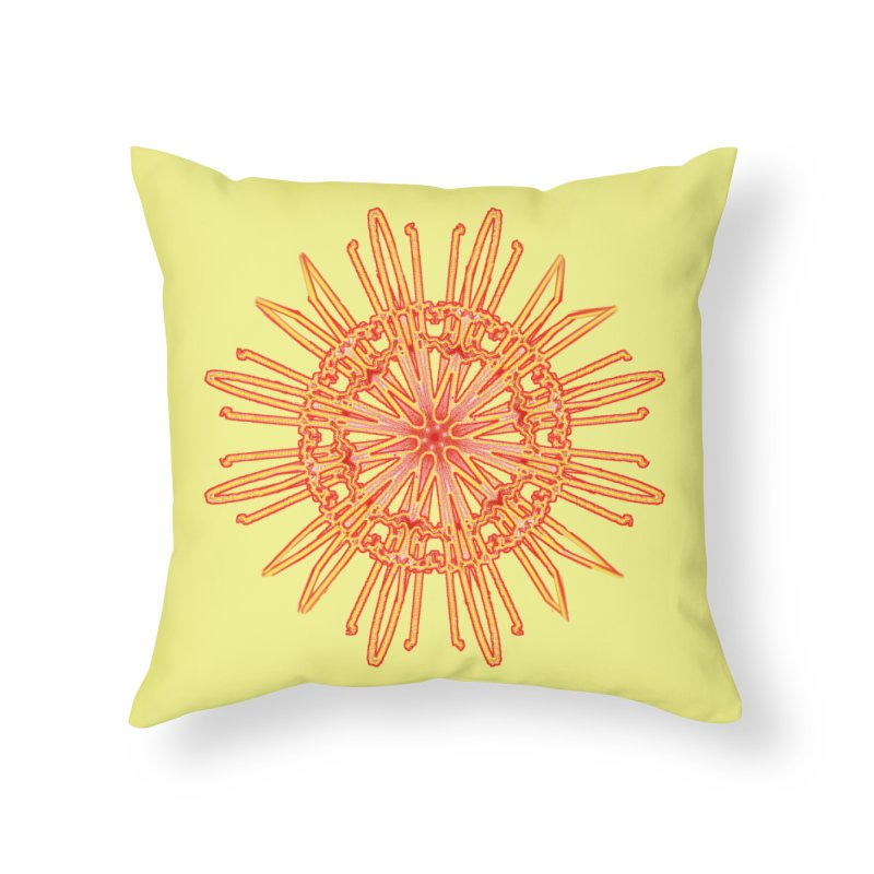 Red and Yellow Lace Companion Home Throw Pillow by dotdotdottshirts's and textiles Artist Shop