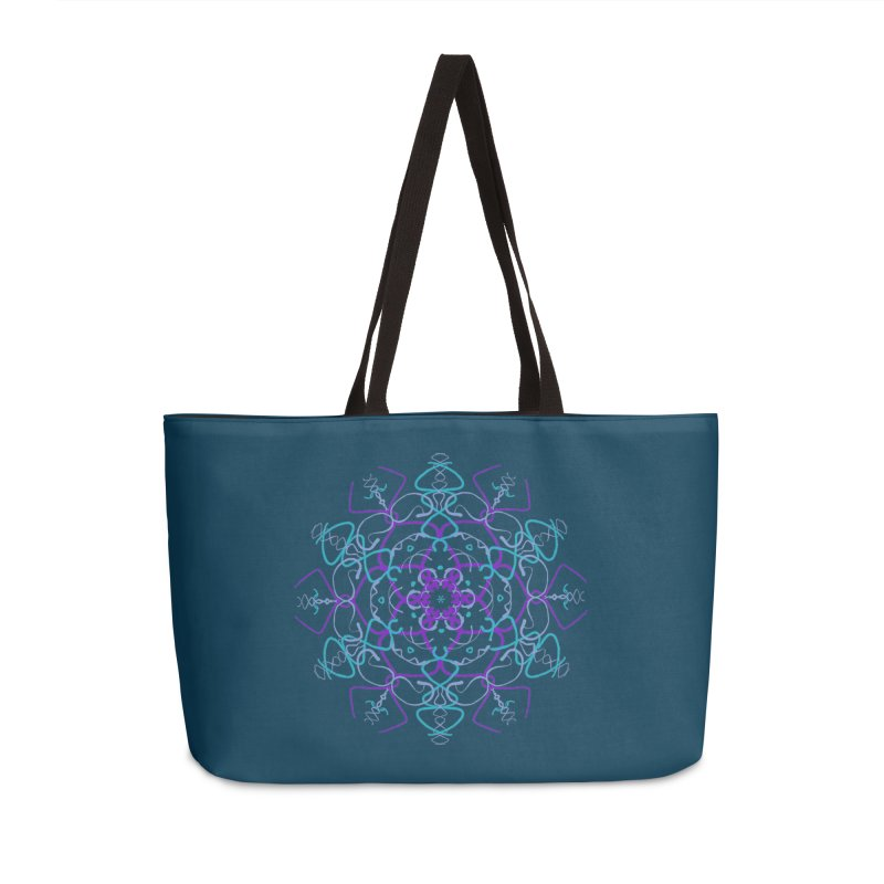 21st Century Flower Power Accessories Weekender Bag Bag by dotdotdottshirts's and textiles Artist Shop