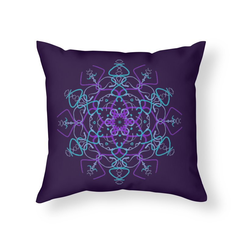21st Century Sixtys Flower Home Throw Pillow by dotdotdottshirts's and textiles Artist Shop