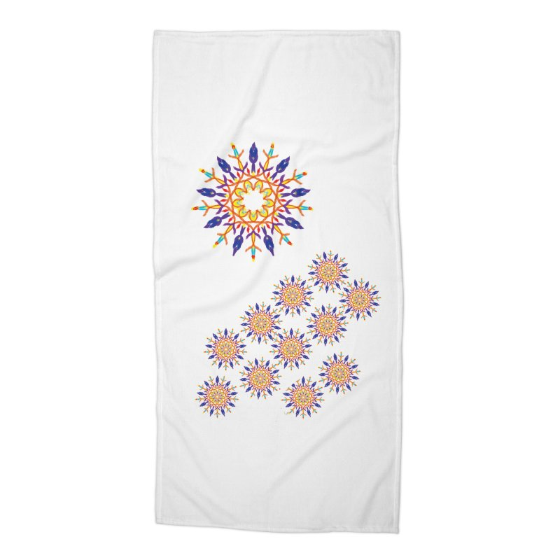 Budding in All Directions Accessories Beach Towel by dotdotdottshirts's and textiles Artist Shop
