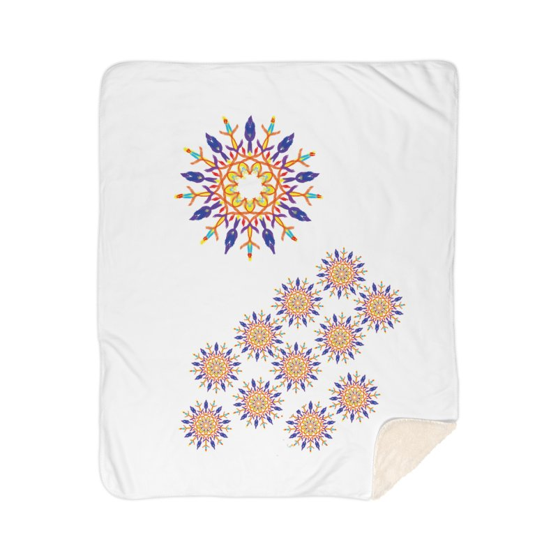 Budding in All Directions Home Sherpa Blanket Blanket by dotdotdottshirts's and textiles Artist Shop