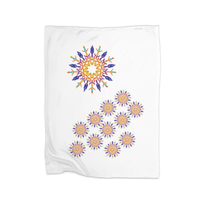 Budding in All Directions Home Blanket by dotdotdottshirts's Artist Shop