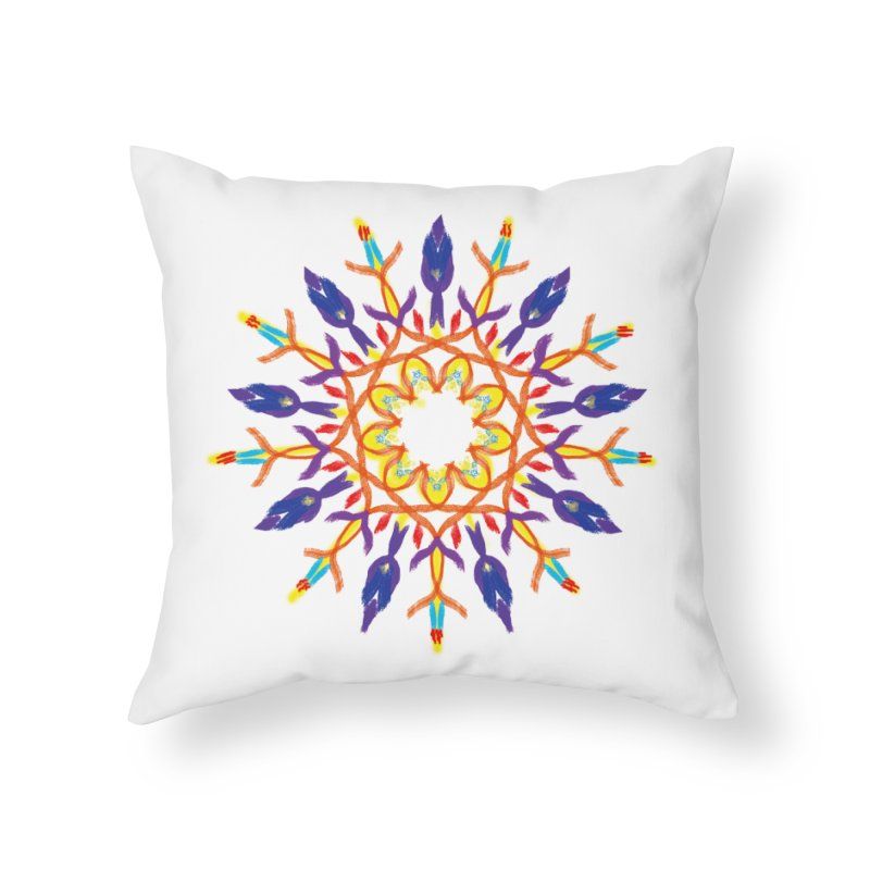 Budding in All Directions Home Throw Pillow by dotdotdottshirts's and textiles Artist Shop