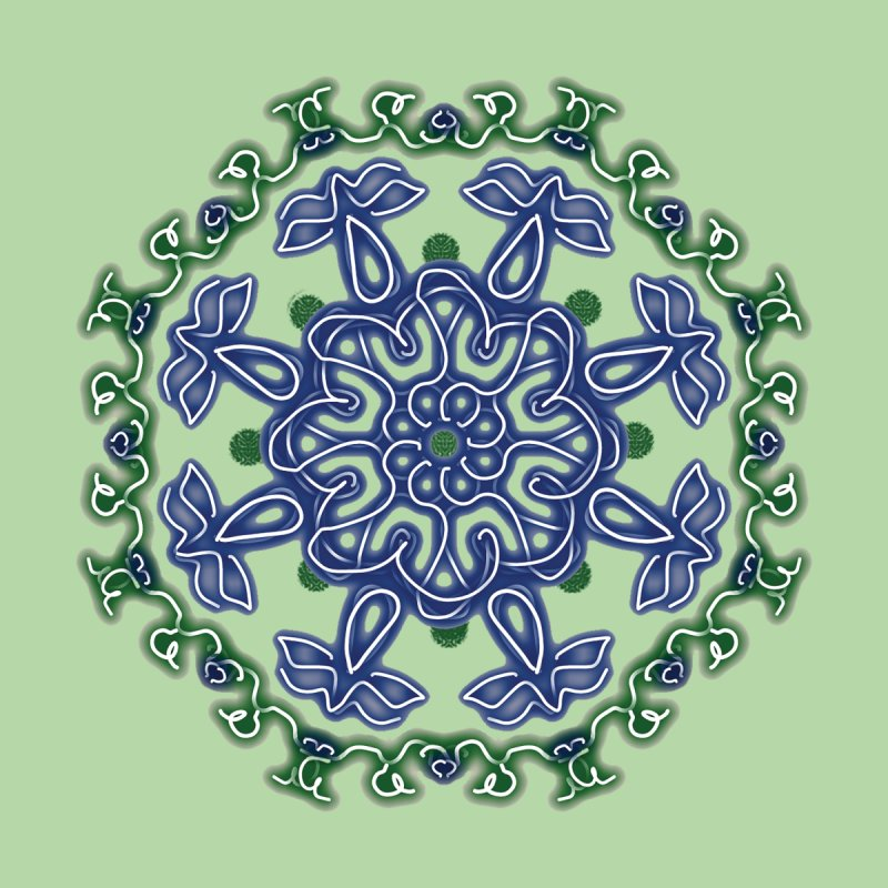Blue and Green Pansy by dotdotdottshirts's Artist Shop