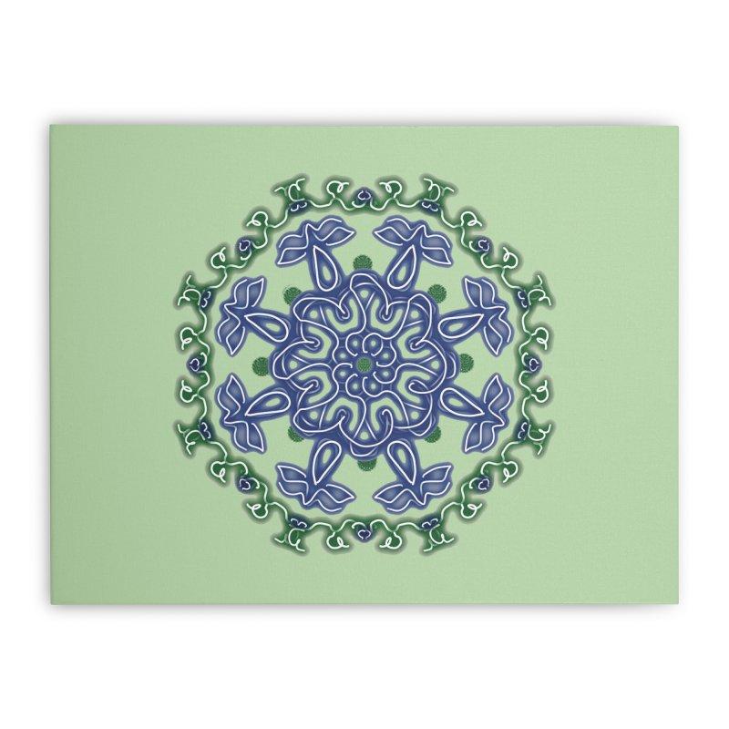 Blue and Green Pansy   by dotdotdottshirts's Artist Shop