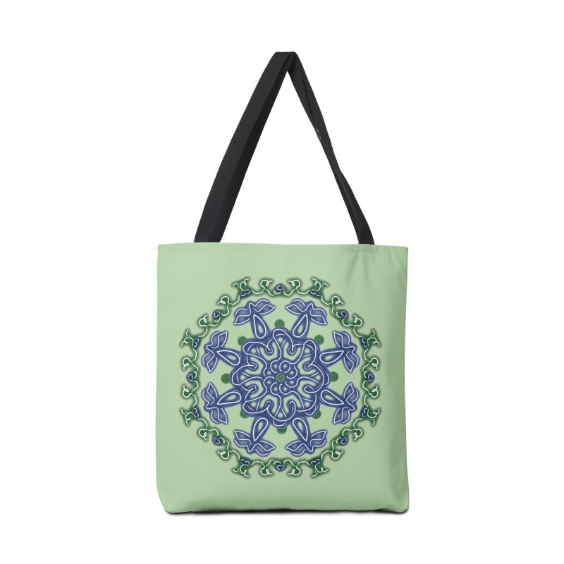 Blue and Green Pansy Accessories Bag by dotdotdottshirts's Artist Shop