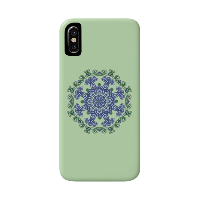 Blue and Green Pansy Accessories Phone Case by dotdotdottshirts's Artist Shop