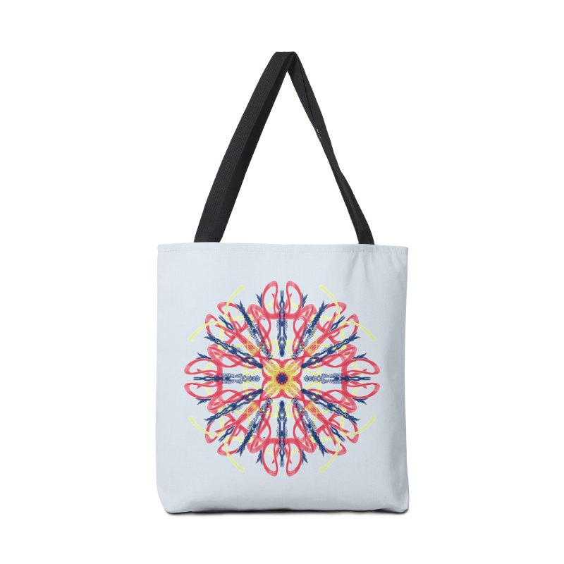 Morning Glory Starburst Accessories Tote Bag Bag by dotdotdottshirts's and textiles Artist Shop
