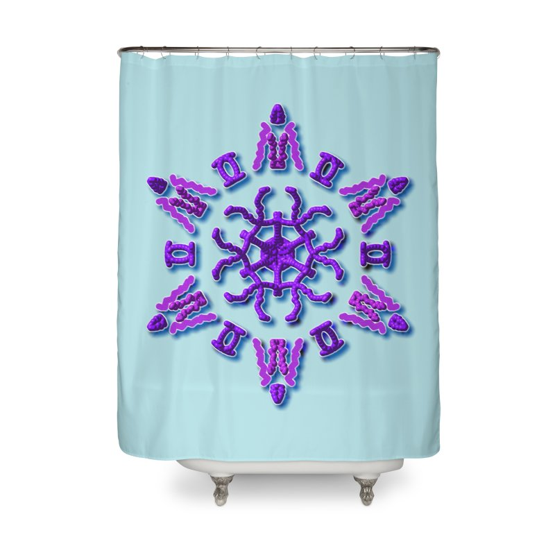 Purple Time Home Shower Curtain by dotdotdottshirts's Artist Shop