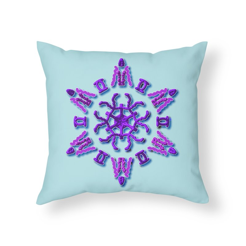 Purple Time Home Throw Pillow by dotdotdottshirts's Artist Shop