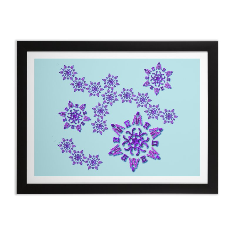 Purple Time Home Framed Fine Art Print by dotdotdottshirts's Artist Shop