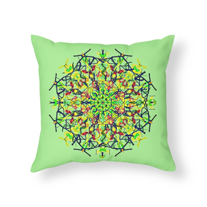 Red Dragonflies in the Grass Home Throw Pillow by dotdotdottshirts's Artist Shop