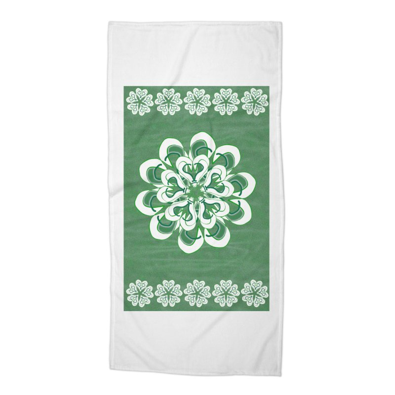Irish Floral Accessories Beach Towel by dotdotdottshirts's Artist Shop