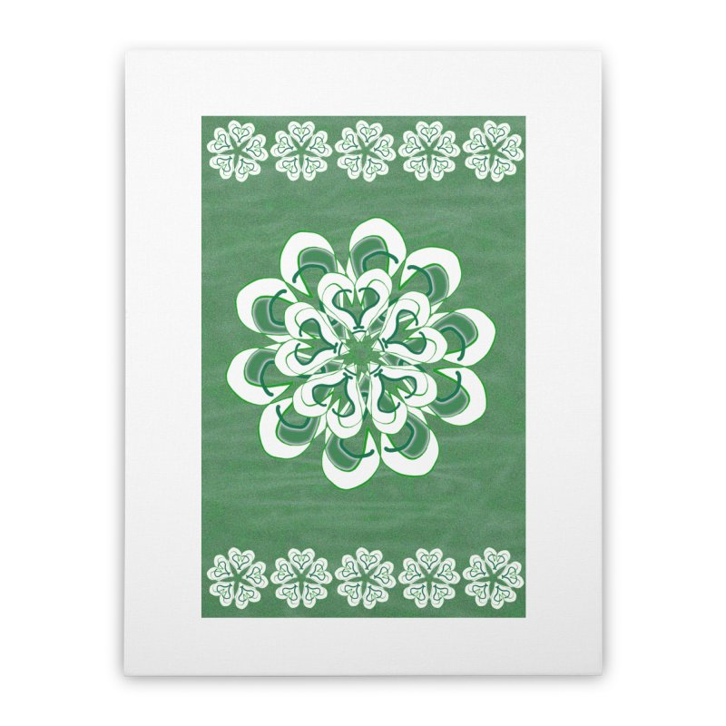 Irish Floral Home Stretched Canvas by dotdotdottshirts's and textiles Artist Shop