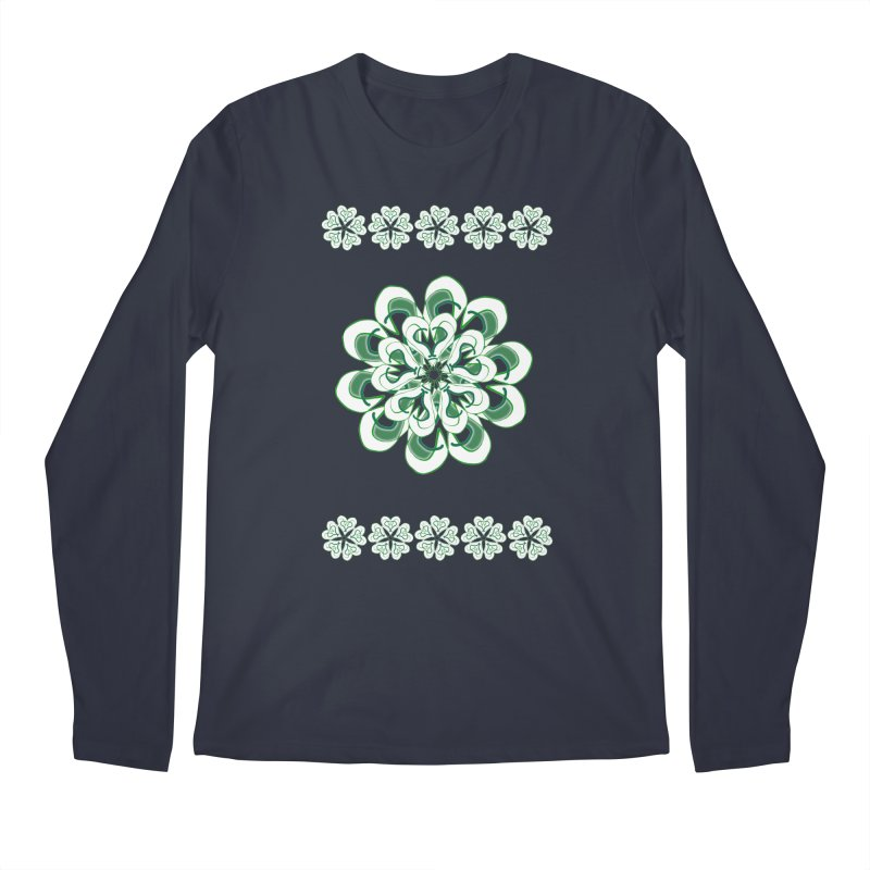 Irish Floral Men's Longsleeve T-Shirt by dotdotdottshirts's and textiles Artist Shop