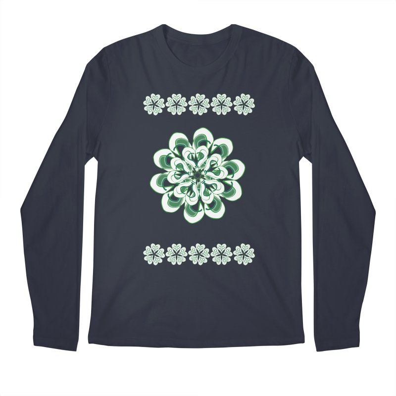 Irish Floral Men's Longsleeve T-Shirt by dotdotdottshirts's Artist Shop