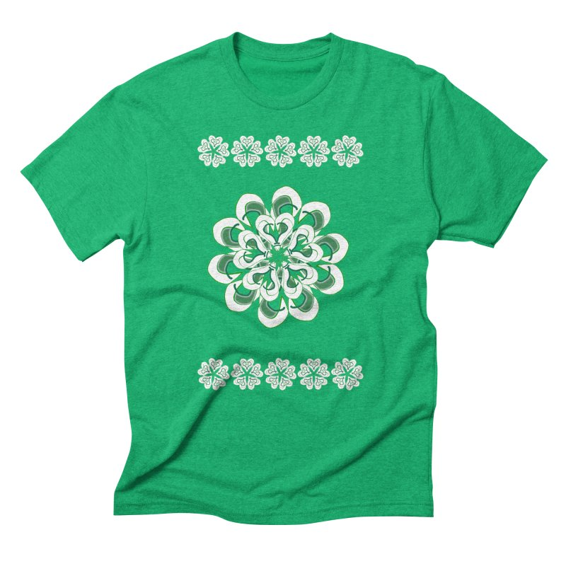 Irish Floral Men's Triblend T-Shirt by dotdotdottshirts's and textiles Artist Shop