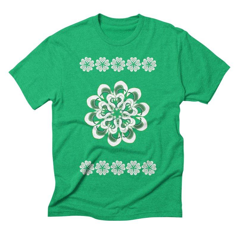 Irish Floral Men's Triblend T-shirt by dotdotdottshirts's Artist Shop