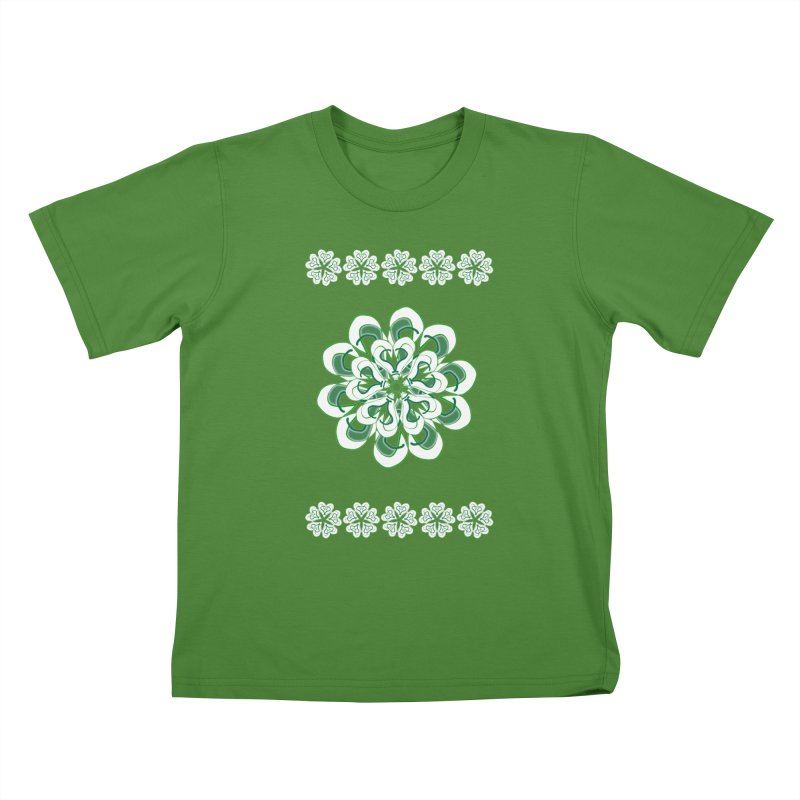 Irish Floral Kids T-Shirt by dotdotdottshirts's Artist Shop