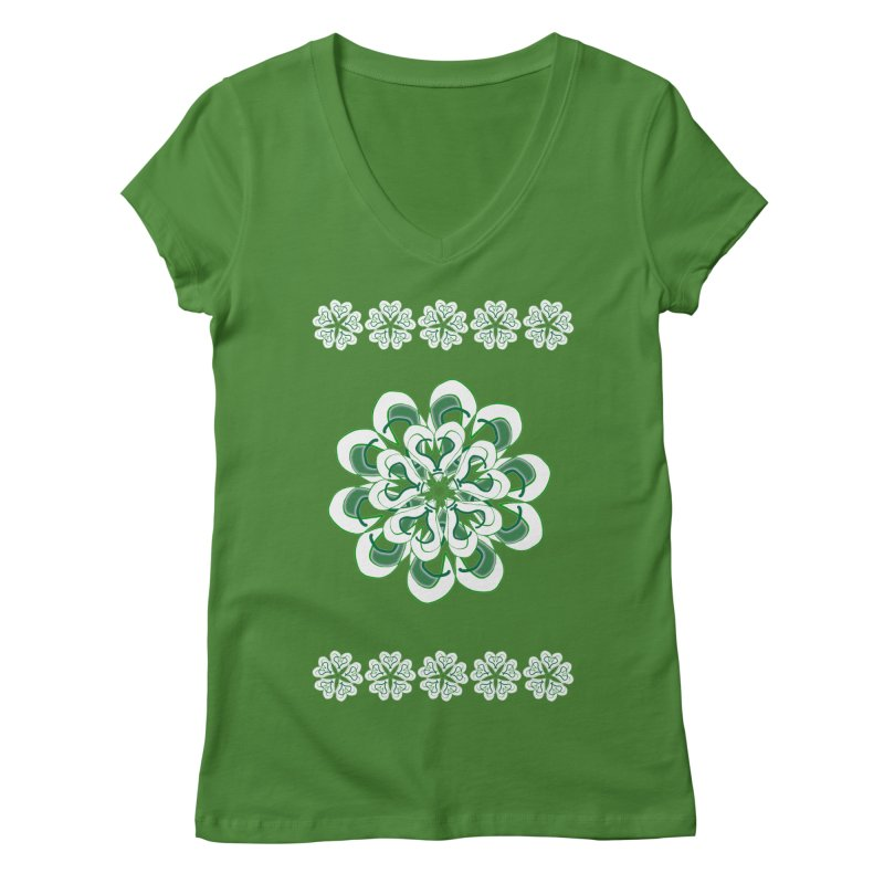 Irish Floral Women's V-Neck by dotdotdottshirts's Artist Shop