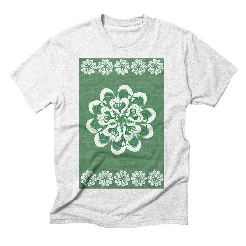 Green Irish Floral Men's Triblend T-shirt by dotdotdottshirts's Artist Shop