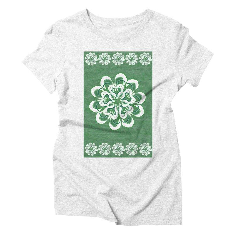 Green Irish Floral Women's Triblend T-shirt by dotdotdottshirts's Artist Shop