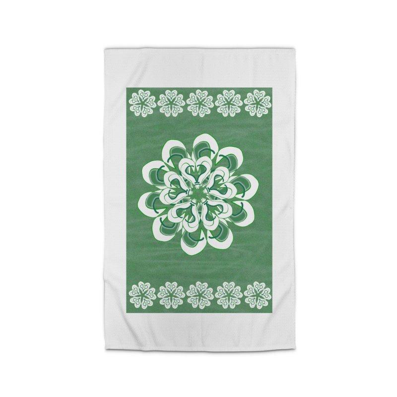 Green Irish Floral Home Rug by dotdotdottshirts's Artist Shop