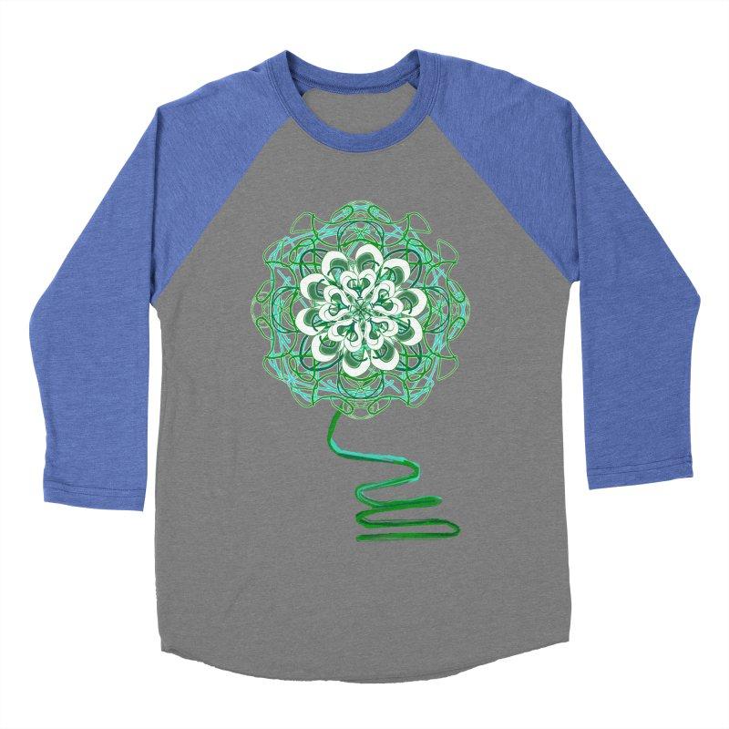 Electric Irish Floral Men's Baseball Triblend T-Shirt by dotdotdottshirts's Artist Shop