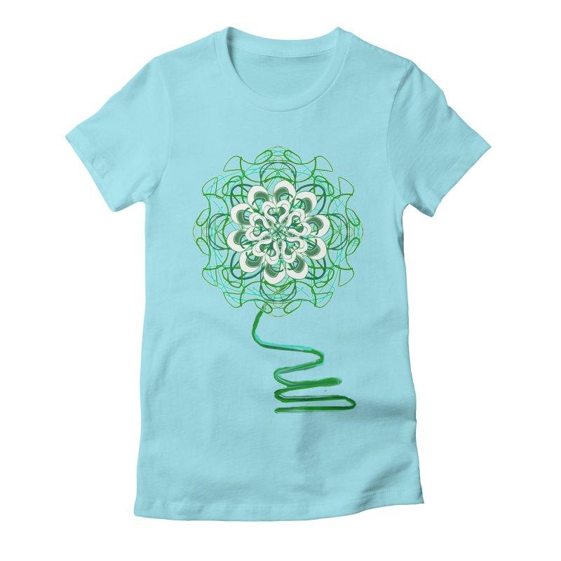 Electric Irish Floral Women's Fitted T-Shirt by dotdotdottshirts's Artist Shop