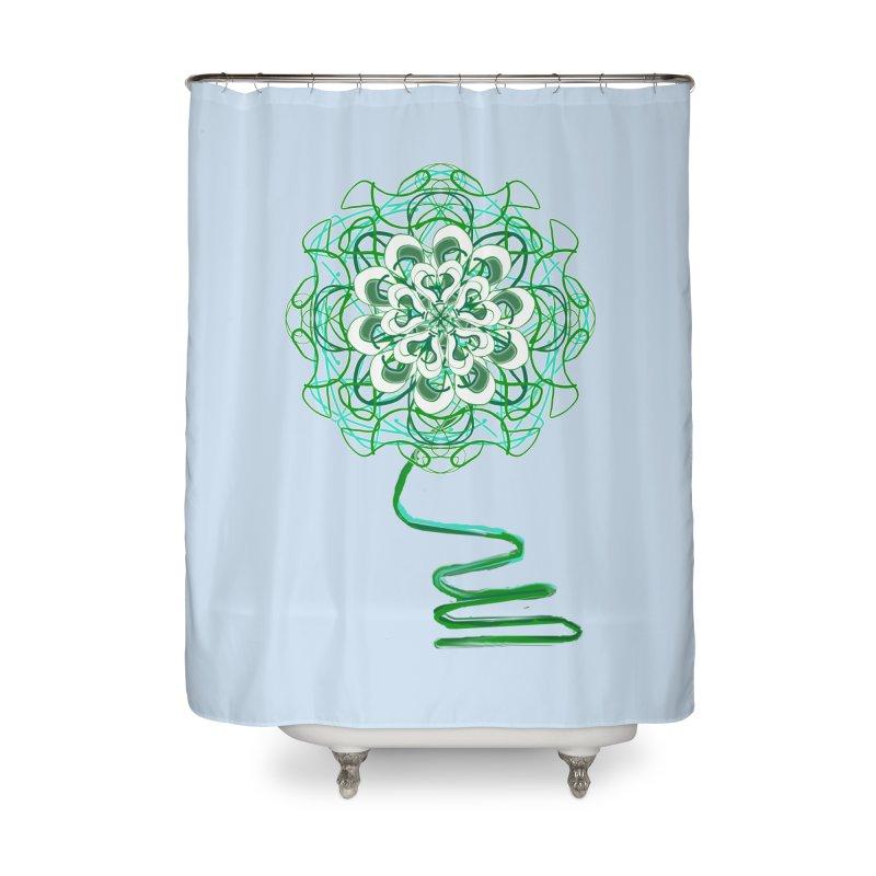 Electric Irish Floral Home Shower Curtain by dotdotdottshirts's Artist Shop