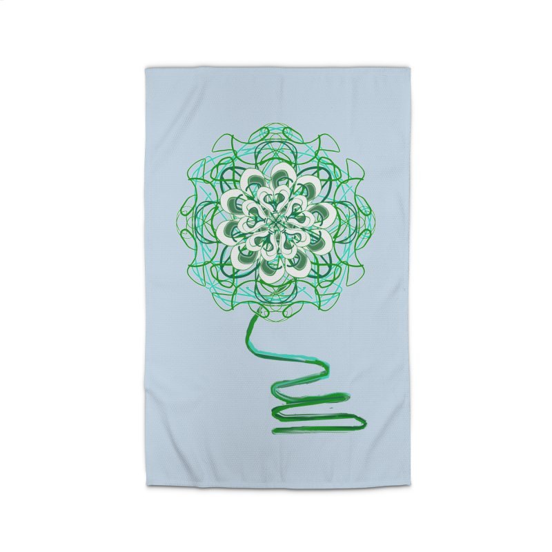 Electric Irish Floral Home Rug by dotdotdottshirts's Artist Shop