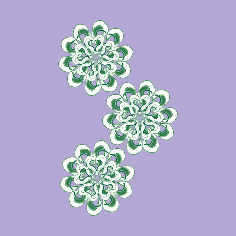 Shamrock Green Floral None  by dotdotdottshirts's Artist Shop