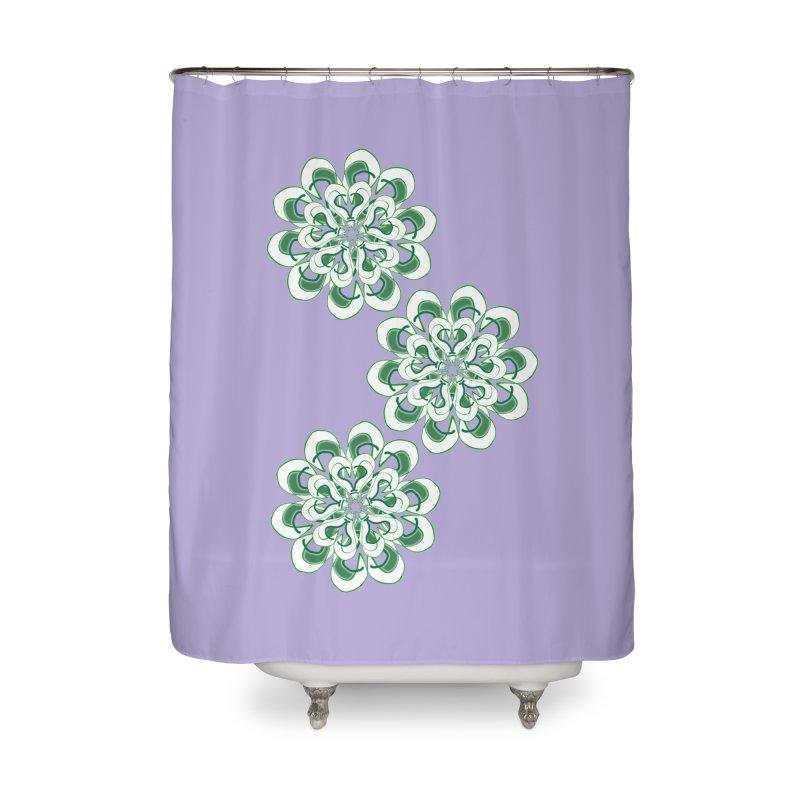 Shamrock Green Floral Home Shower Curtain by dotdotdottshirts's Artist Shop