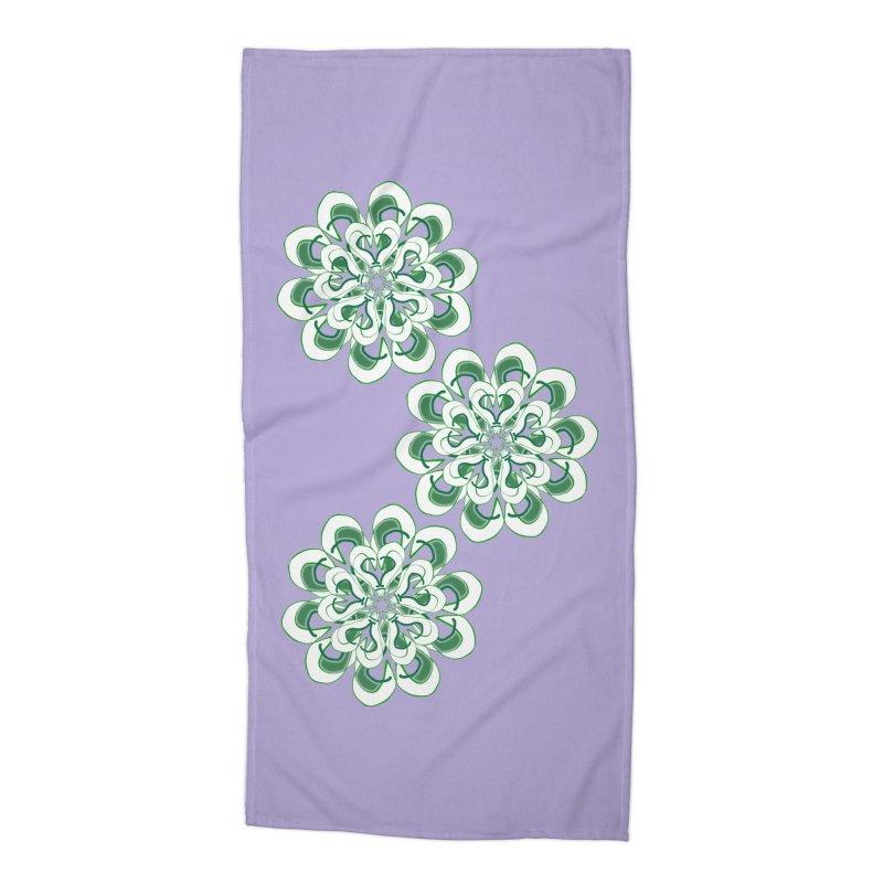 Shamrock Green Floral Accessories Beach Towel by dotdotdottshirts's Artist Shop