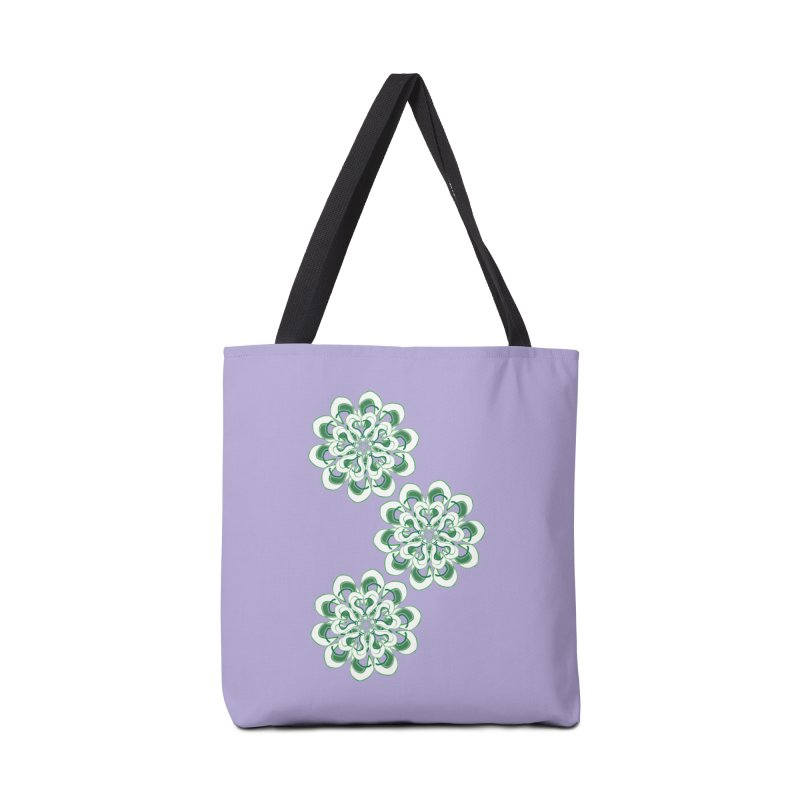 Shamrock Green Floral Accessories Bag by dotdotdottshirts's Artist Shop