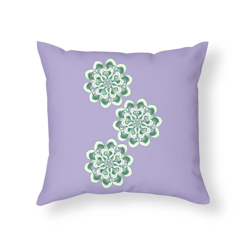 Shamrock Green Floral Home Throw Pillow by dotdotdottshirts's Artist Shop