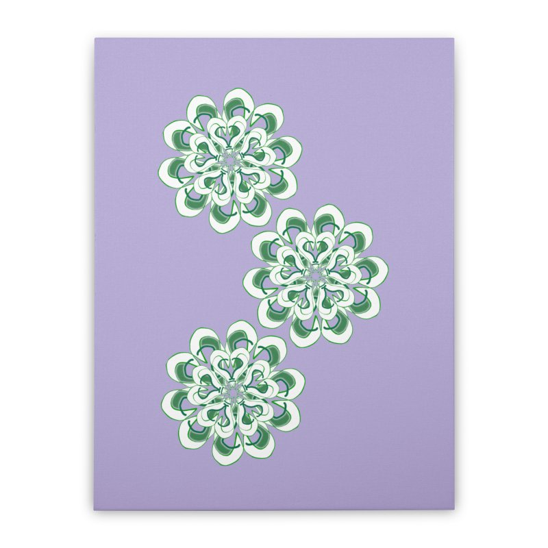 Shamrock Green Floral Home Stretched Canvas by dotdotdottshirts's Artist Shop