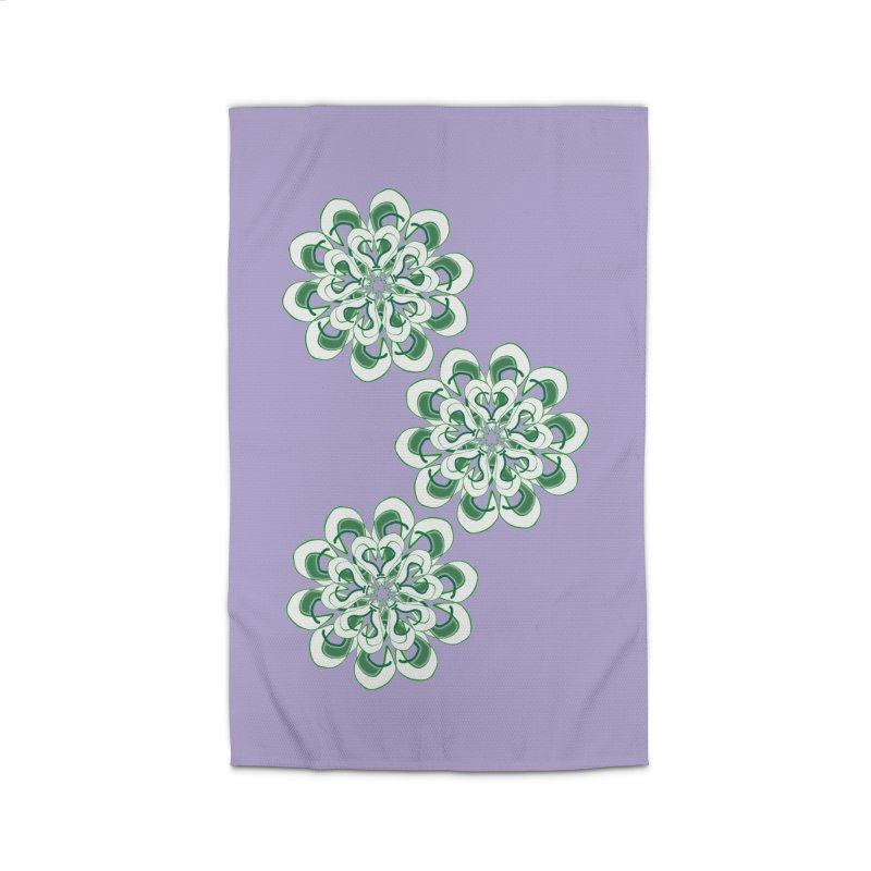 Shamrock Green Floral Home Rug by dotdotdottshirts's Artist Shop