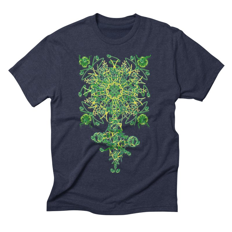 Electric Clover Men's Triblend T-shirt by dotdotdottshirts's Artist Shop