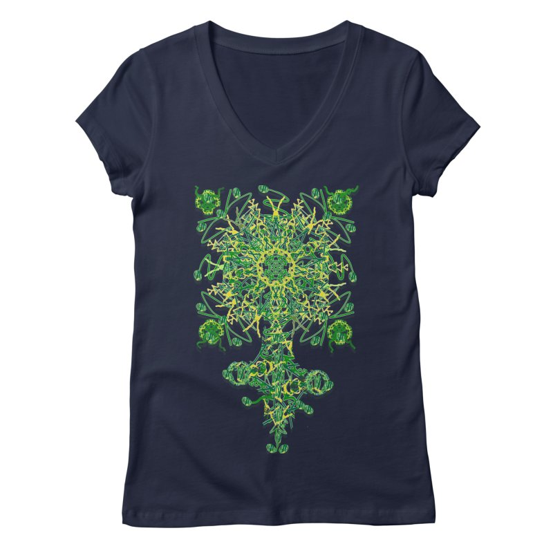 Electric Clover Women's V-Neck by dotdotdottshirts's Artist Shop