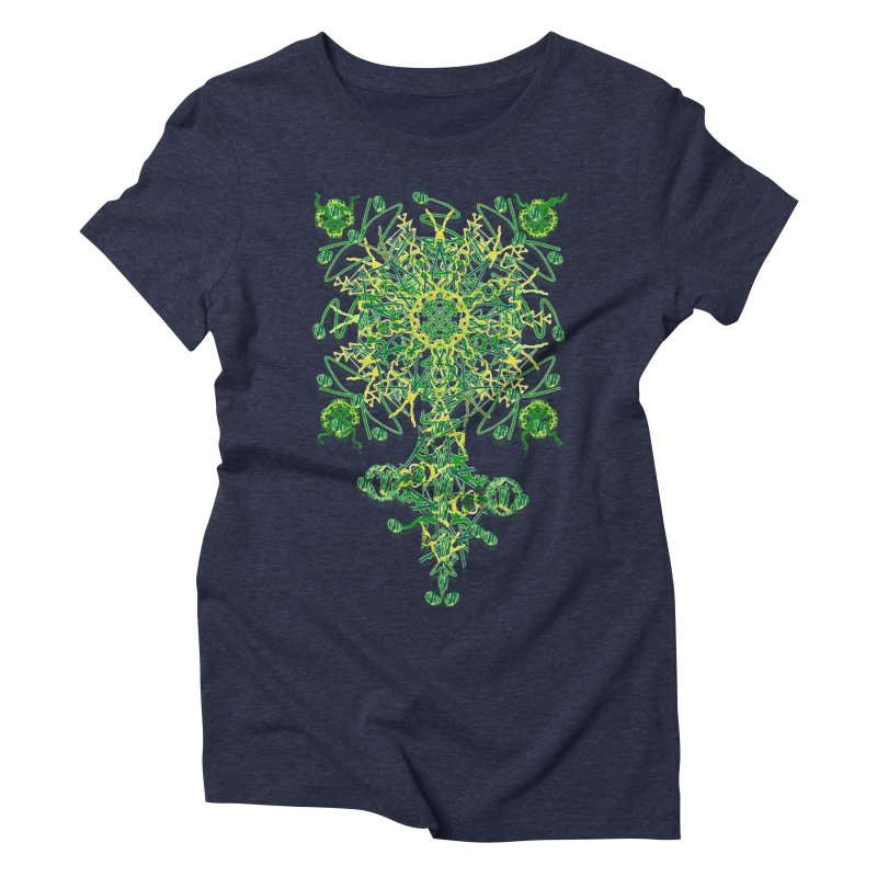 Electric Clover Women's Triblend T-shirt by dotdotdottshirts's Artist Shop