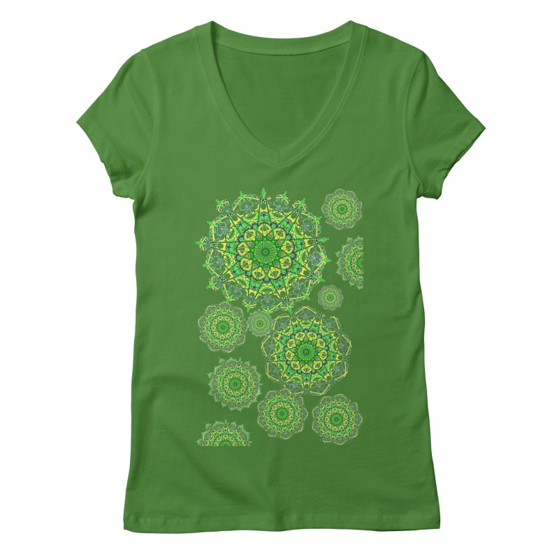 Irish Snowflakes Women's V-Neck by dotdotdottshirts's Artist Shop