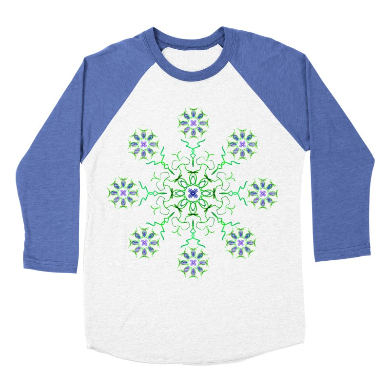 FlowerBurst Women's Baseball Triblend Longsleeve T-Shirt by dotdotdottshirts's and textiles Artist Shop