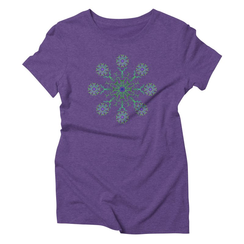 FlowerBurst Women's T-Shirt by dotdotdottshirts's and textiles Artist Shop